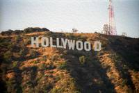 Hollywood Sign Oil Painting
