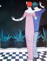 TWO WOMEN IN THE NIGHT/ ART DECO BEAUTY FASHION
