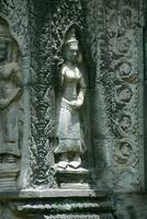 Carving of Maiden Angkor Wat Cambodia