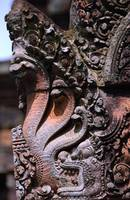 Wall carving of serpents AngkorWat Cambodia