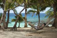 Man enjoying a tropical siesta