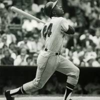 """""""Hank Aaron of the Milwaukee Braves"""" by RetroImagesArchive"""