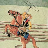 Cowboy Windup Toy Art Prints & Posters by Glenda Zuckerman