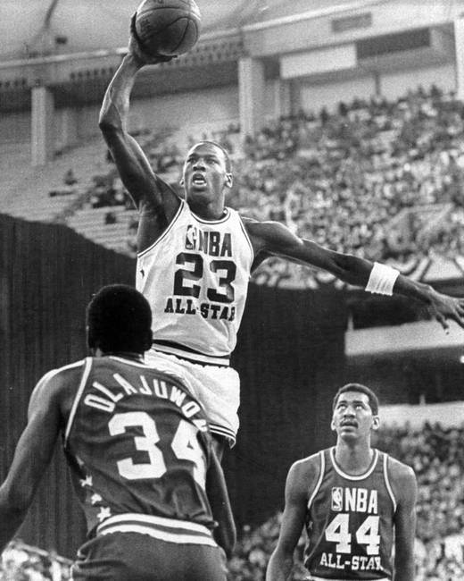 Michael jordan playing in all star game by retroimagesarchive