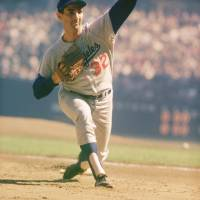 """""""Sandy Koufax Pitching"""" by RetroImagesArchive"""
