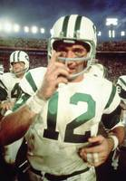Close up of Joe Namath