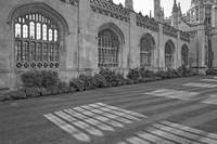 Shadows of King's College Cambridge B&W by Priscilla Turner