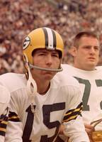 Bart Starr watches from the sideline