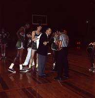 Red Auerbach talking to ref