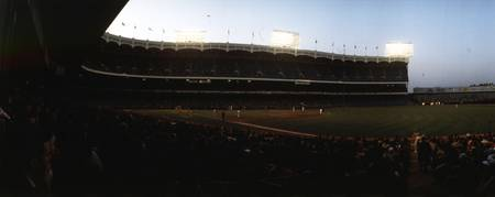 Beatiful side view of Old Yankee Stadium