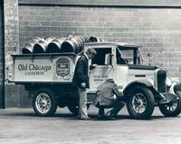 Old Chicago Beer Vintage Truck Delivery