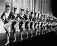 Pretty Rockettes in dance line at Radio City Music