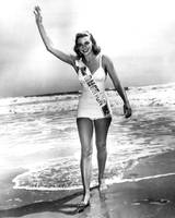 1952 Miss America on beach