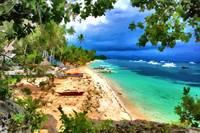 Sandy beach in Bohol Philippines