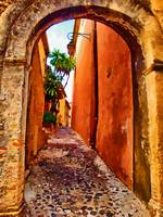 Back street in Eze village France