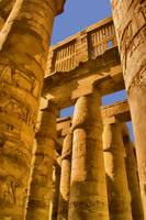 Karnak temple building in Egypt