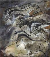 Horse Drawings Lascaux Cave SE France