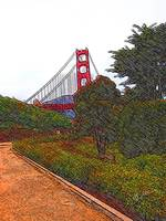 Golden Gate Bridge drawing