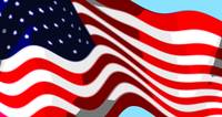 50 Star American Flag Closeup Abstract 7