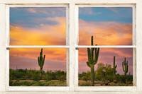 Colorful Southwest Desert Rustic Window Art View