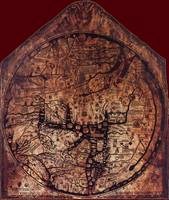Hereford Mappa Mundi 1300 Darker Red Corners