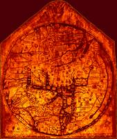 Hereford Mappa Mundi 1300 Enhanced Darker Red Corn