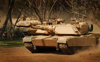 M1 Abrams Tanks In Action