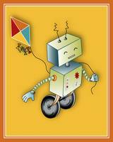 Robot with a Kite