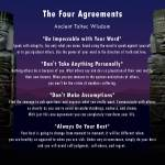 """Four Agreements Poster"" by spadecaller"