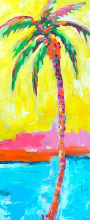 Dancing Palm Tree - Abstract Painting