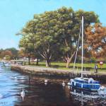 Sailing Boats and Yachts on the River Stour Christ Prints & Posters