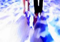 Ballroom dance floor abstract 12, digital painting