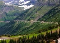 Going Up Logan Pass by Carol Groenen