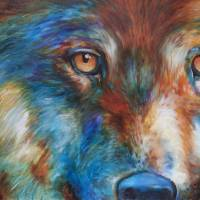 WOLF ABSTRACT 3618 by Marcia Baldwin