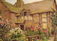 A Cottage garden in Cholstry, Rowe