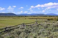 Blue Sky Wyoming Landscape by Carol Groenen
