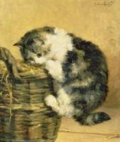Cat with a Basket