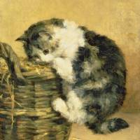 """Cat with a Basket"" by fineartmasters"
