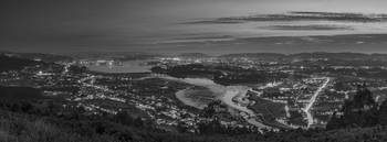 Ferrol's Ria Panorama from Mount Ancos Galicia Spa