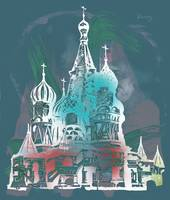 Cathedral Of St Basil Kremlin - Pop Art Poster