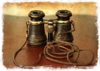 Antique Binoculars - old world by Carol Groenen
