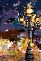 Paris Street Lantern Modern Abstract