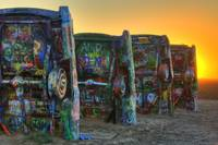 Sunset at Cadillac Ranch - HDR