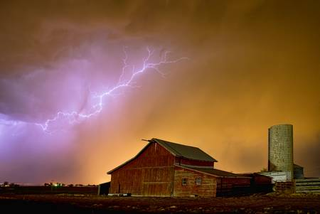 Watching The Storm From The Farm