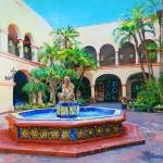 """Courtyard Fountain San Diego California"" by RDRiccoboni"