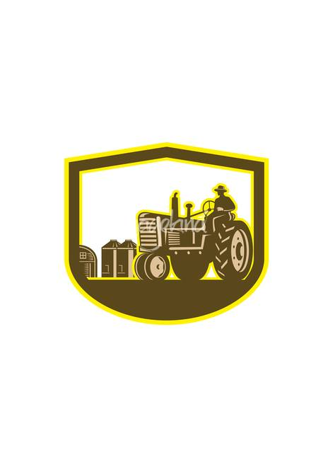 Stunning Farmer Driving Tractor Artwork For Sale On Fine