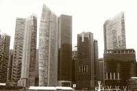 City in monochrome,City Center,  Singapore