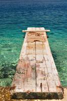 Wooden pier over beautiful sea