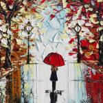 """""""The Girl with the Red Umbrella"""""""" by ChristineBell"""