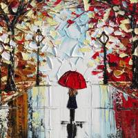 """The Girl with the Red Umbrella"""" by ChristineKrainock"